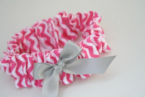 chevron-wedding-garter-hot-pink-gray-The-Garter-Girl-2