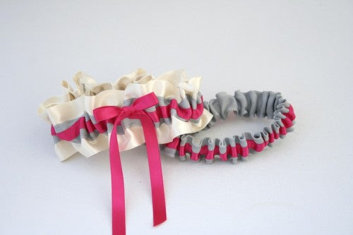 chic-gray-hot-pink-wedding-garter-The-Garter-Girl