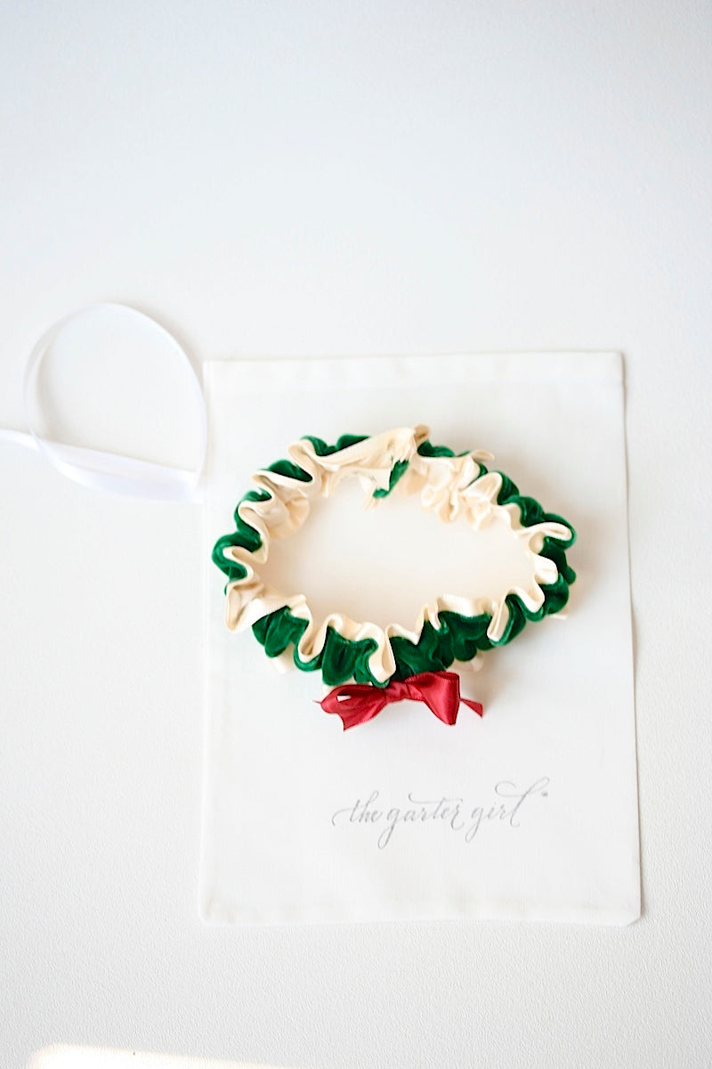 christmas-wreath-green-velvet-red-holiday-wedding-garter-the-garter-girl