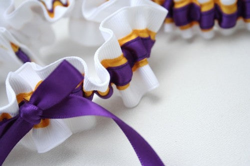 college-wedding-garter-white-yellow-purple-The-Garter-Girl-1