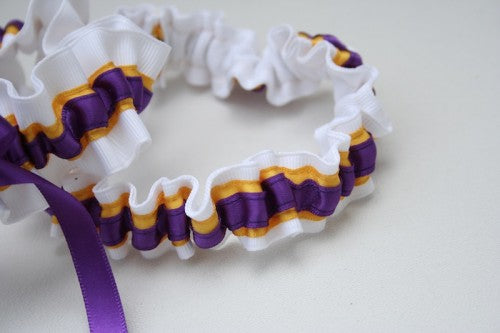 college-wedding-garter-white-yellow-purple-The-Garter-Girl-2