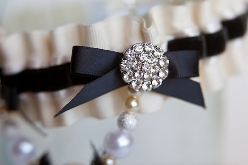 sparkle on couture wedding garter