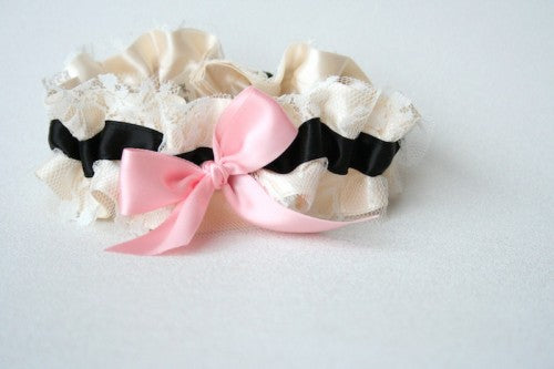 couture-ivory-lace-black-pink-wedding-garter-The-Garter-Girl