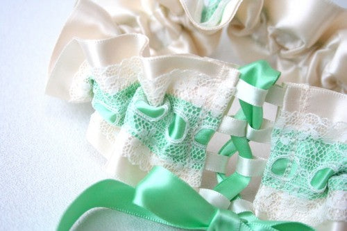 couture-mint-green-wedding-garter-corset-tie-The-Garter-Girl