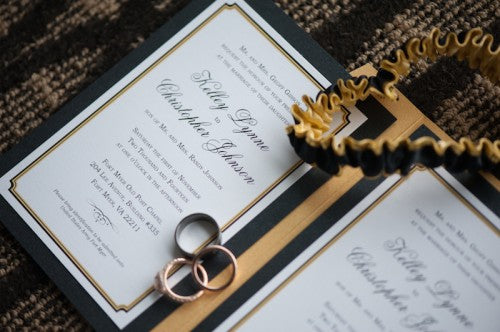 custom-black-gold-wedding-garter-The-Garter-Girl