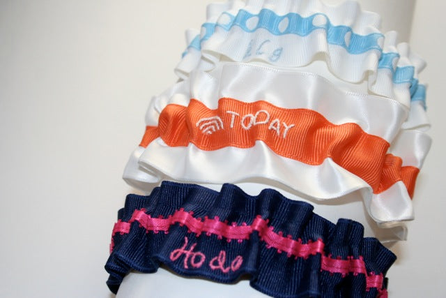 custom wedding garters for Today Show Throws a Wedding