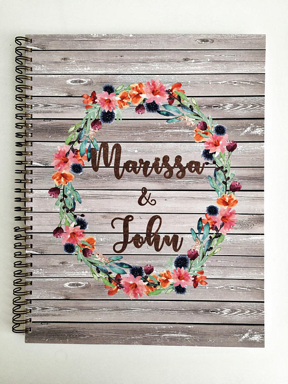 floral wedding planning book