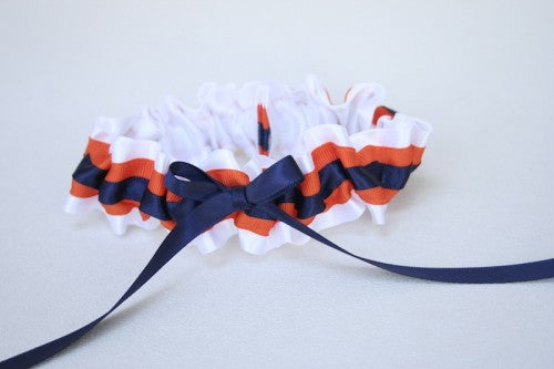 custom-white-orange-blue-wedding-garter-The-Garter-Girl