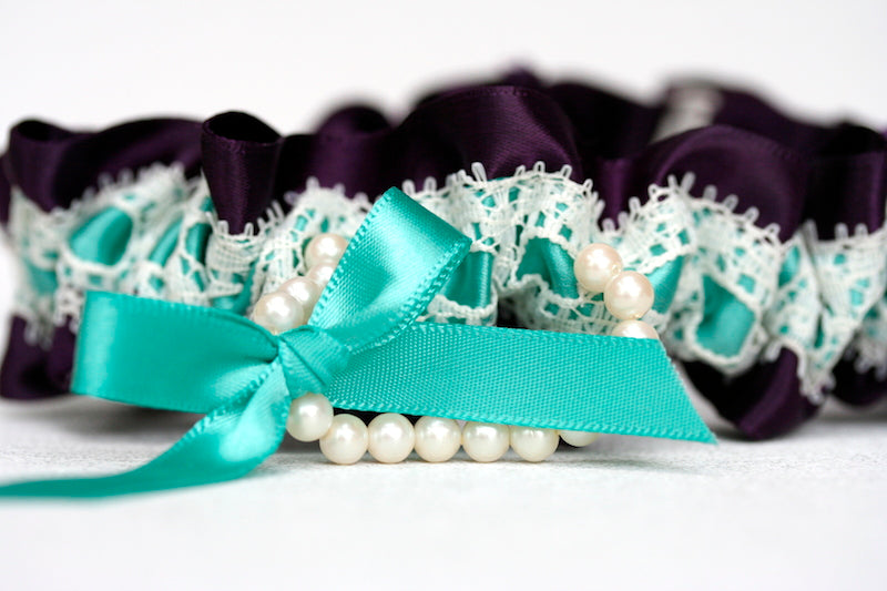 deep-purple-turquoise-lace-pearl-bridal-garter-The-Garter-Girl-2