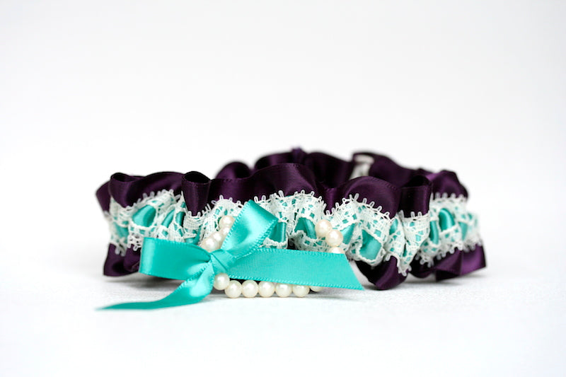 deep-purple-turquoise-lace-pearl-bridal-garter-The-Garter-Girl-4