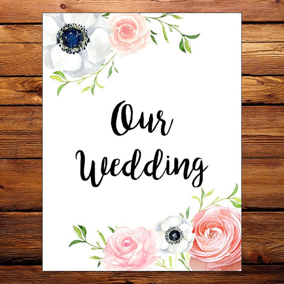 custom floral wedding organizer