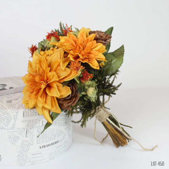 fall-wedding-bouquet-silk