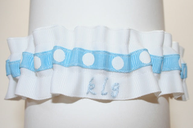 custom wedding garter for Kathie Lee Gifford on Today Show Throws a Wedding