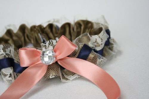 gold-lace-navy-coral-wedding-garter-The-Garter-Girl-1