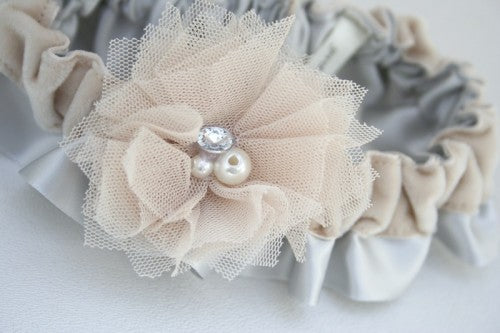 gray-champagne-velvet-wedding-garter-The-Garter-Girl-2