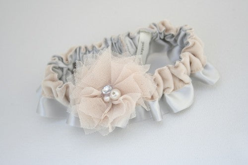 gray-champagne-velvet-wedding-garter-The-Garter-Girl-4