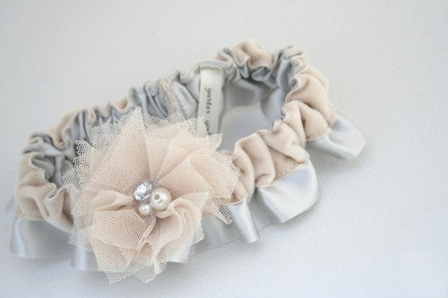 gray-champagne-velvet-wedding-garter-The-Garter-Girl