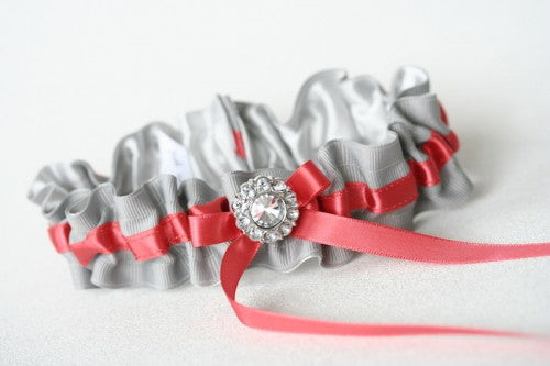 gray-coral-wedding-garter-The-Garter-Girl