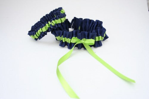 green-navy-wedding-garter-set-The-Garter-Girl