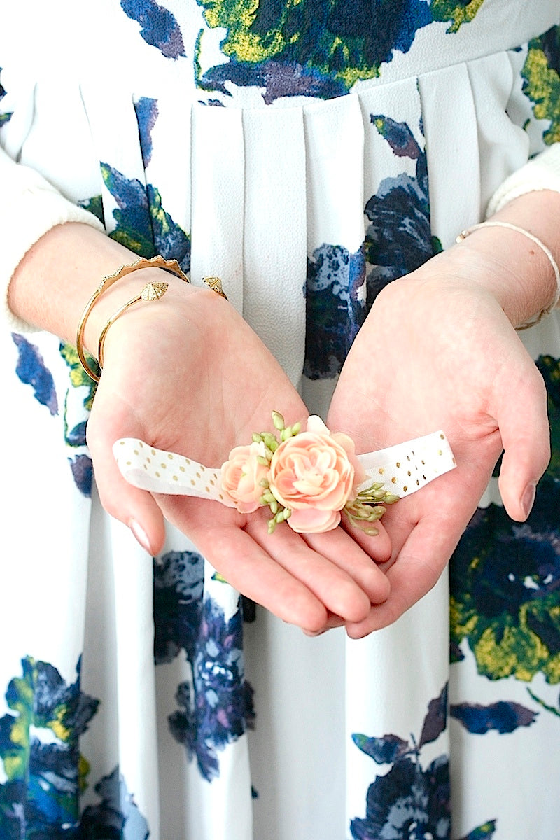 bride holding flower wedding garter