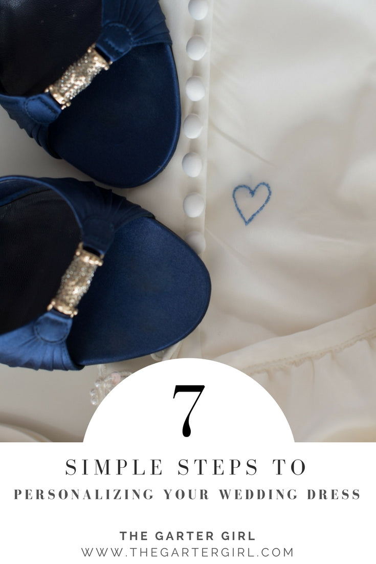 how to customize inside your wedding dress - something blue bridal shoes