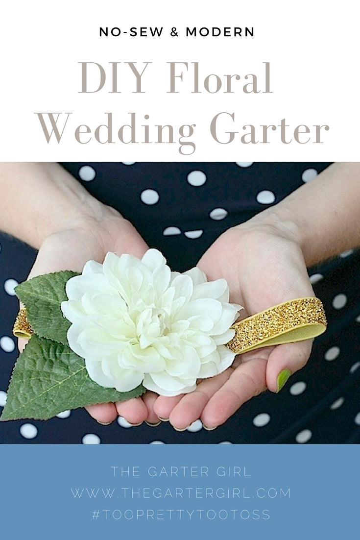 how to make wedding garter without sewing