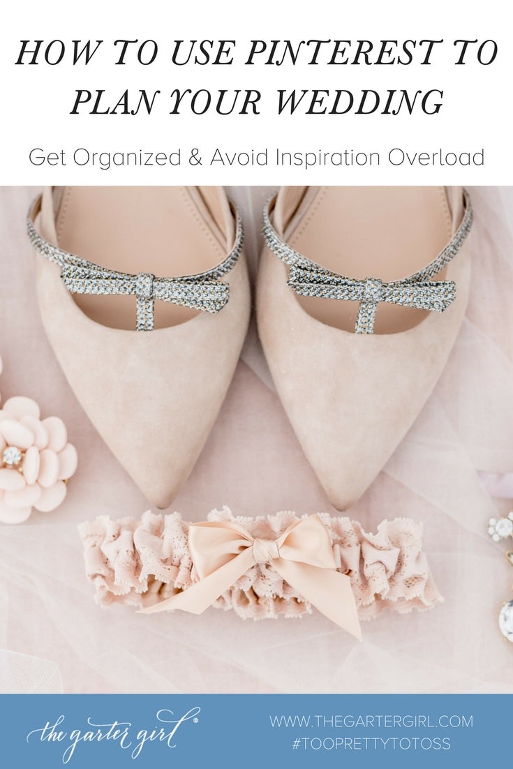 blush wedding accessories - how to use pinterest to plan your wedding