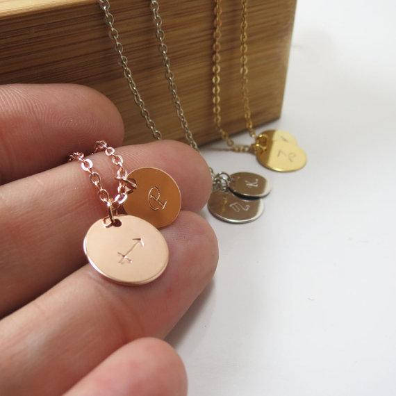 custom bridesmaid gift necklaces