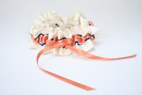ivory-coral-navy-wedding-garter-The-Garter-Girl-1