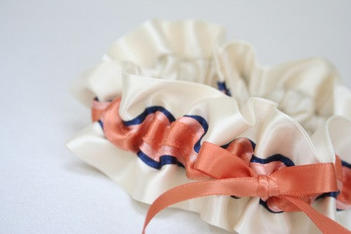 ivory-coral-navy-wedding-garter-The-Garter-Girl-2
