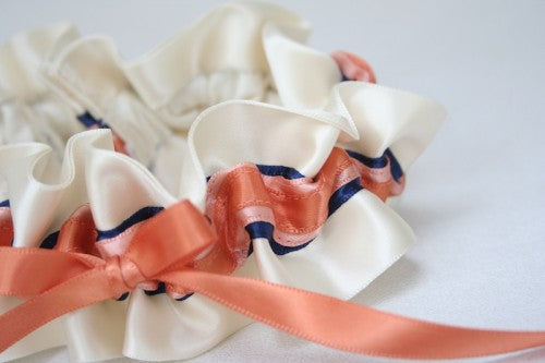ivory-coral-navy-wedding-garter-The-Garter-Girl-3