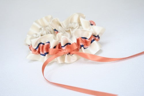 ivory-coral-navy-wedding-garter-The-Garter-Girl-5
