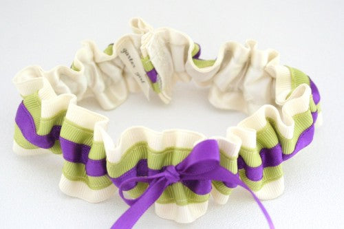 ivory-green-purple-wedding-garter