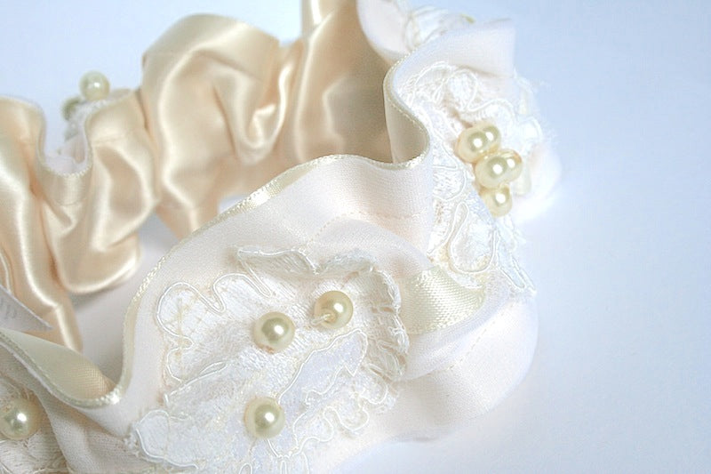 custom heirloom wedding garter