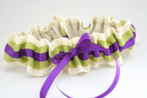 ivory-purple-and-spring-green-wedding-garter
