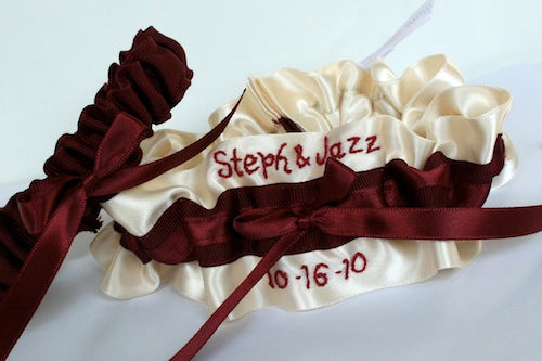 ivory-wedding-garter-set-burgundy-The-Garter-Girl-by-Julianne-Smith