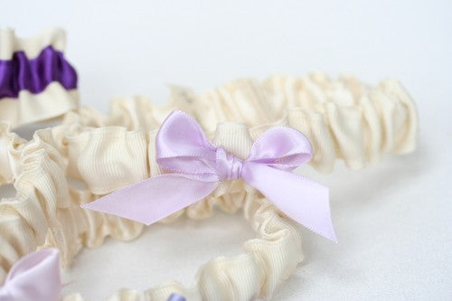lavender-bridesmaid-gift-wedding-garter-set-ombre-The-Garter-Girl