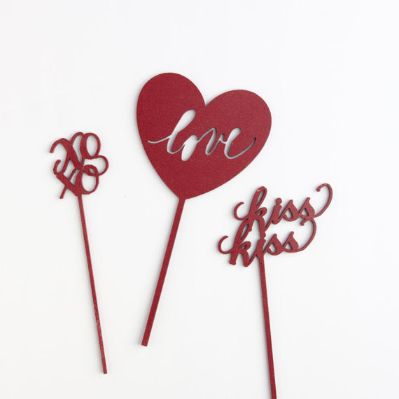 love-calligraphy-wedding-cake-topper