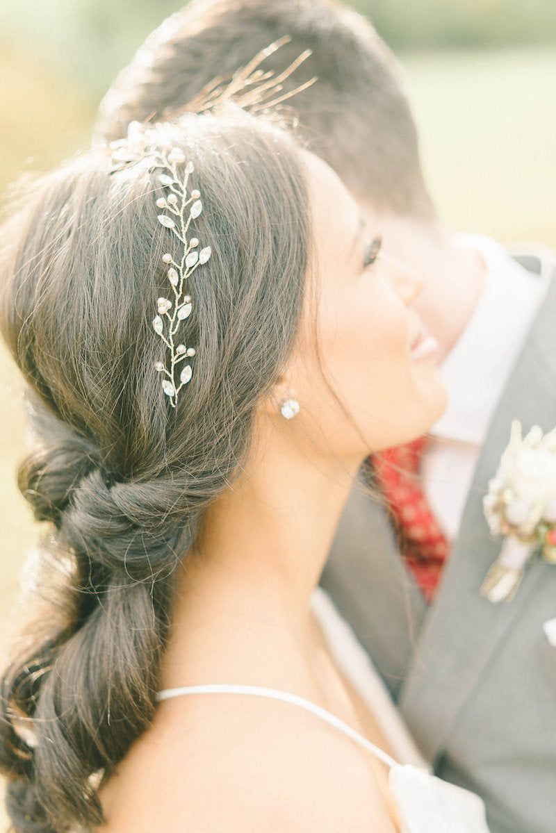 low-bun-bridal-hair--luxurious-winter-wedding-inspiration-Liz-Fogarty-Photography