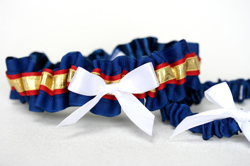 marine-dress-blue-wedding-garter-The-Garter-Girl