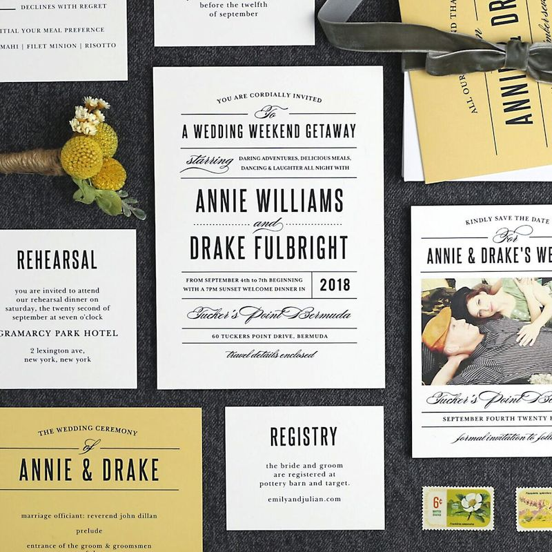 Best Wedding Invitation Sites: Endless Wedding Invitation Ideas With Basic Invite