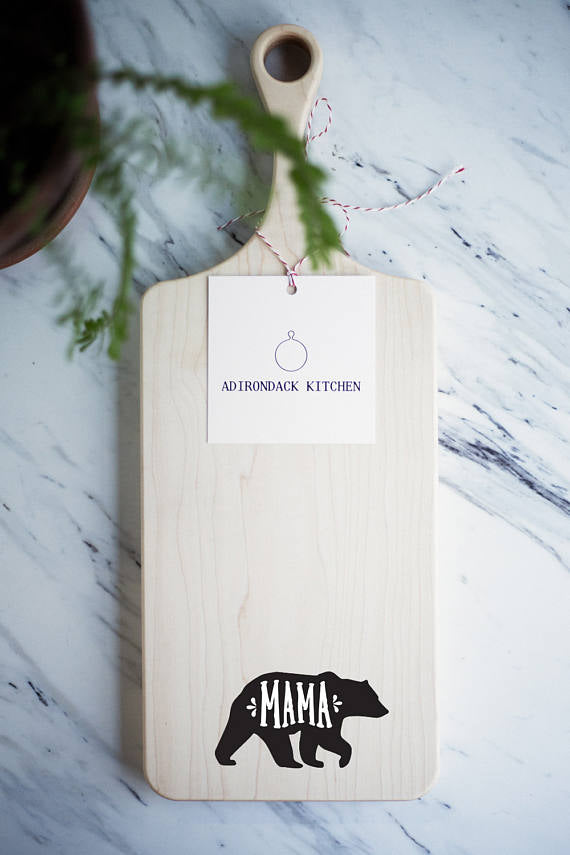 wooden mom cutting board - - mother of bride or groom gift