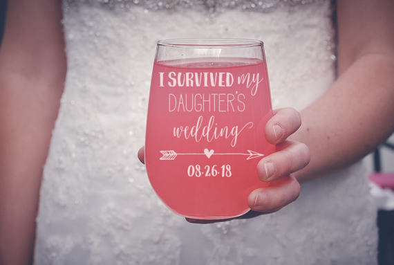 wine glass for mother of the bride