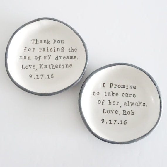 sentimental ring dish for mother of the bride
