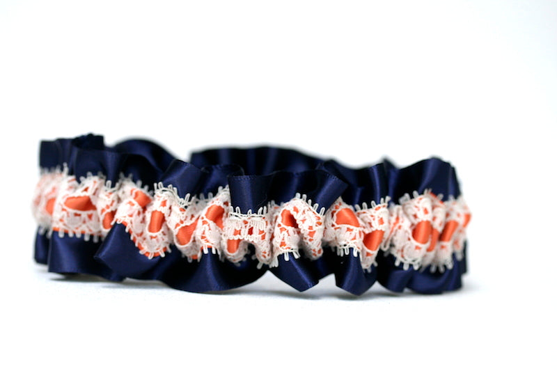navy-coral-lace-wedding-garter-set-The-Garter-Girl-1