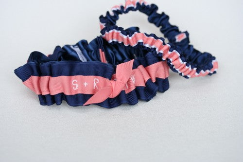 navy-coral-white-wedding-garter-embroidered-The-Garter-Girl1