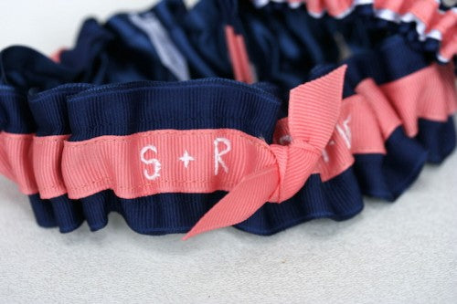 navy-coral-white-wedding-garter-embroidered-The-Garter-Girl2