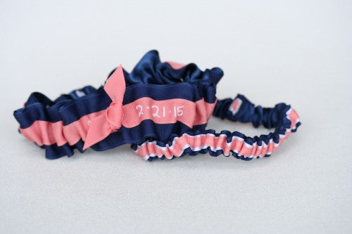navy-coral-white-wedding-garter-embroidered-The-Garter-Girl4