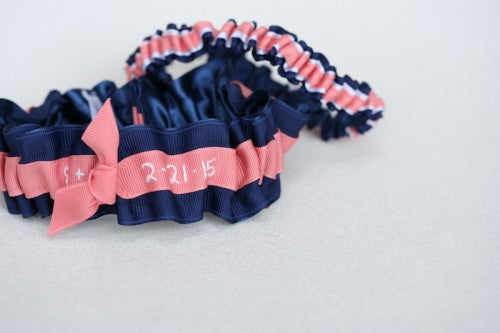 navy-coral-white-wedding-garter-embroidered-The-Garter-Girl5