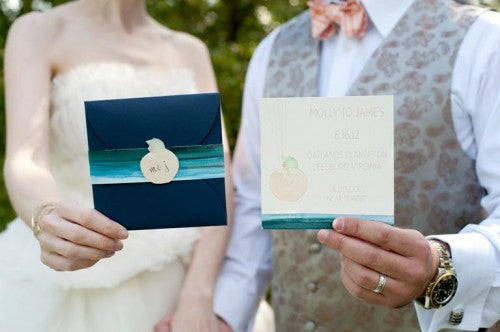 navy-peach-wedding-paper-goods-Cyn-Kain-Photography